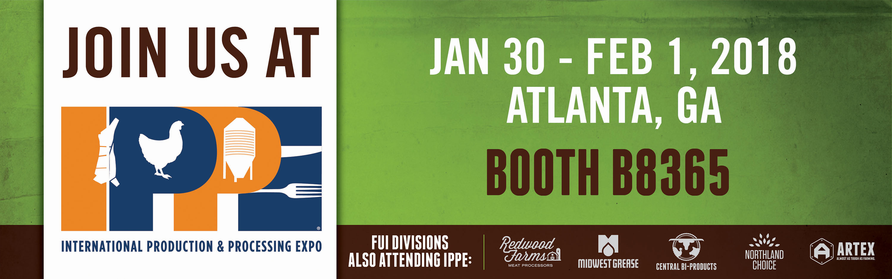 Join us at IPPE in Atlanta, GA. In Booth B8365 January 30-February 2nd.